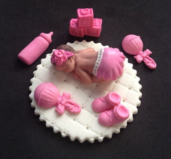 Plastic Baby Shoes Cake Topper