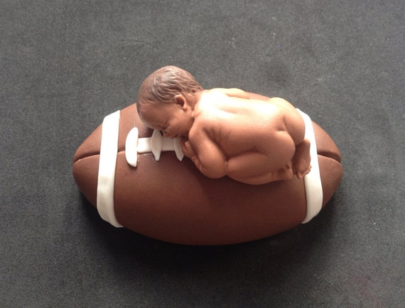 Fondant 3d Football Sports Cake Topper Baby Shower Birthday