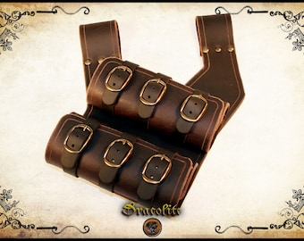 Medieval Leather Scabbard Double Side for LARP, action roleplaying and cosplay