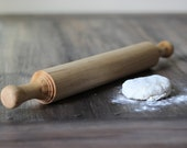 Rustic Modern Rolling Pin - Unique Hand-Turned Solid Wood - RichwoodCreations