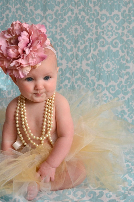 items similar to baby headband newborn headband pink items similar to large pink silk flower headband baby