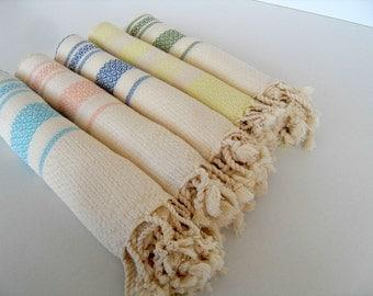 Bambu Turkish Towel, Mini Peshtemal, Turkish Towel, Head Towel, Tea Towel,Children Beach Towel, Natural Towel, Peshkir