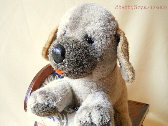 Cuddly Toy Dog With Button Nose