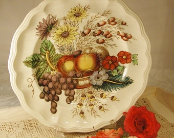 Vintage Spode china Fruit Basket Plate, made in England 1930's from bone china