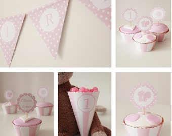 Pink Pois Party kit first birthday