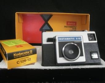 Kodak Instamatic x-15 Color Outfit Camera Original Box