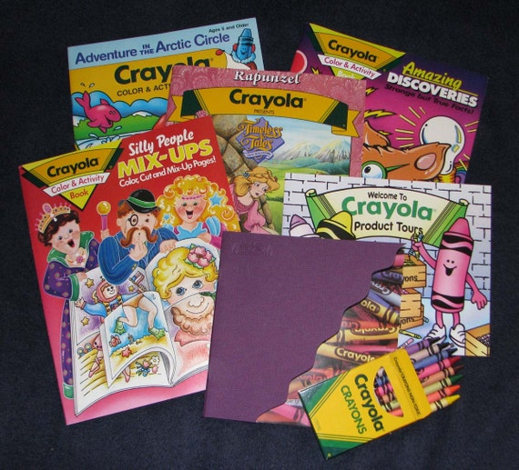 Vintage crayola coloring books and crayons by Coloring book and crayons