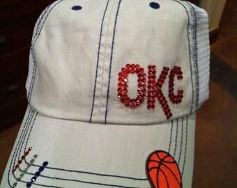 Oklahoma City Thunder inspired hats