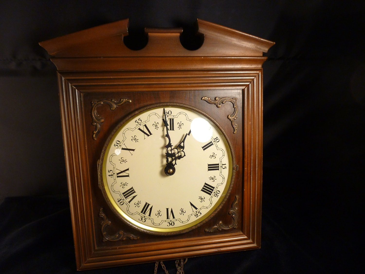 Vintage Emil Schmeckenbecher Wood Wall Clock Made In Germany