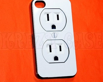 iphone 4 Case, iPhone 4s case Electric Outlet iPhone 4 Cases, Iphone 4s Cover,Case for iPhone 4
