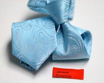 Tie in Turquoise Paisleys