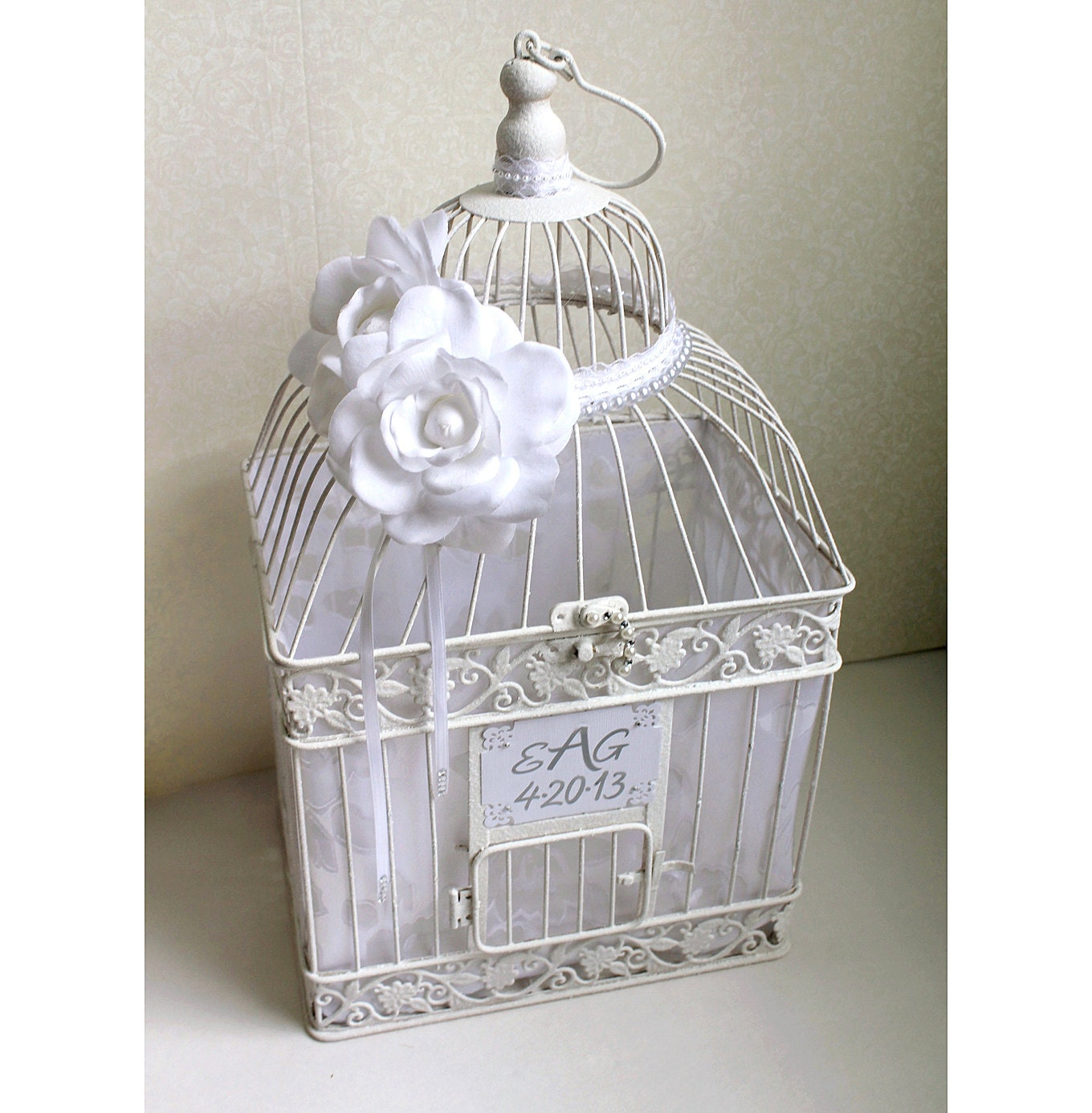 Birdcage Wedding Card Holder: Wedding Birdcage Card Holder White. Wedding Card By