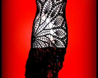 Black lace spanish style dress