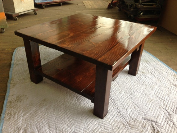 Custom Rustic Wood 2 Tier Coffee Table By MontanaWoodCo On Etsy