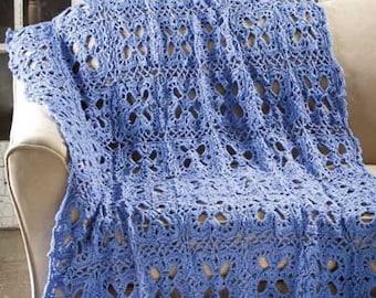 Bluebonnet Throw Handmade