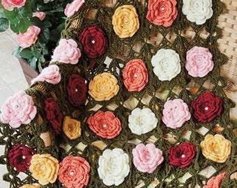 Wild Roses Throw