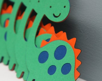 Die Cut Dinosaurs--Set of 8 Green, Blue, and Orange