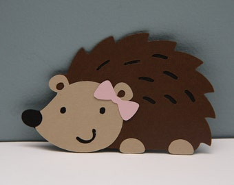 Hedgehog Die Cut-Set of 8 (With or without bow)