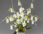 Wedding Wishing Tree Guestbook with White Orchids