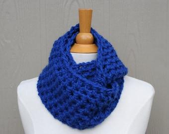 Infinity Scarf Handmade Royal Blue