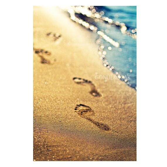 Footprints Wall Decor : Items similar to wall decor beach footprints in