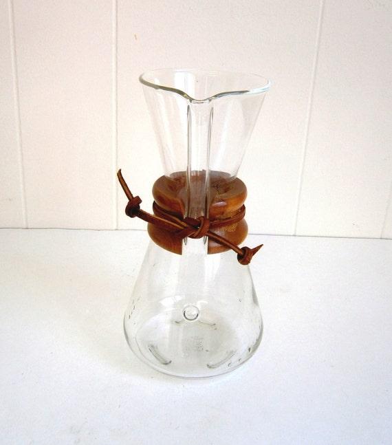 Vintage Chemex Glass Coffee Maker 3 Cup