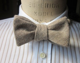 The Cicero Herringbone Bowtie by Prohibition Clothing