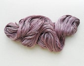 welthase lace supersilk NUDE MAUVE hand dyed single, spun mulberry silk  appr. 800m - 875yds per 100g