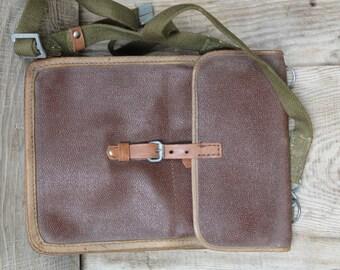 Vintage Soviet army soldier field bag