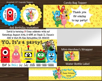 YO GABBA GABBA Printable Party Bundle