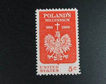 1313 Polish Millenium Vintage Stamps (100)