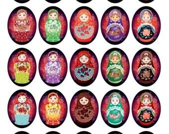 Russian Doll Greeting Cards Pk 10/ Babushka Matryoshka Greetings Cards