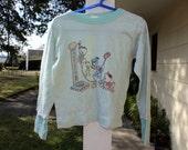 Vintage 70s 80s SHIRT Donald Duck hipster retro soft thin warm pajama novelty disney unisex boy girl 5