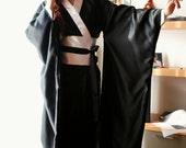 Kimono summer nightgown- light satin