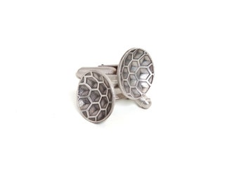 Sterling Honeycomb Cuff Links