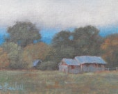 "Connecticut Farm, Originial Oil Painting - Study, 6"" x 8"""