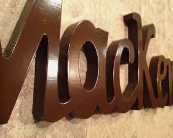 Custom Name Sign  - Wood Word Sign - Custom Word Sign - Free Standing Sign - Wall Letter Sign