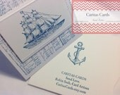 "DELIVERY: Men's Hand-stamped ""Ship"" Card."