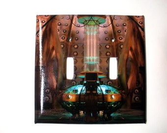 Doctor Who TARDIS Interior Double Lightswitch Plate