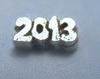 2013 - Silver Graduation School Floating Charm for Glass Memory Lockets FCL-3-S
