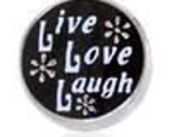 Live Love Laugh Silver HGC1396  Floating Charm for Glass Memory Lockets