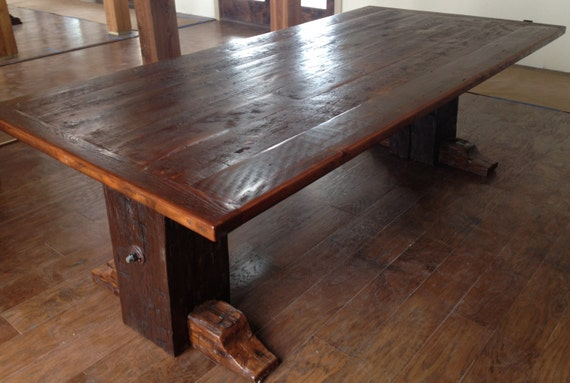 Dining Room Table Made From Reclaimed Barn Wood By RestoringTexas