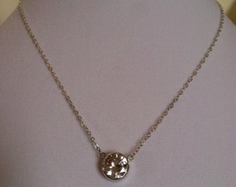 Sterling Silver 10mm CZ Solitaire Necklace -  Valentine