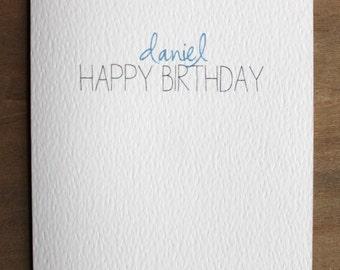 Personalised Boy's Birthday Card