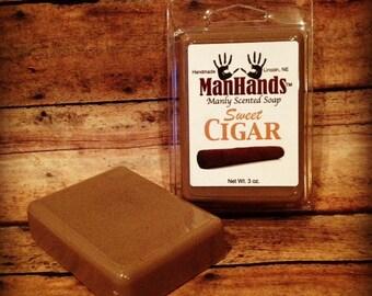 Sweet Cigar Scented Soap 3 oz. Bar