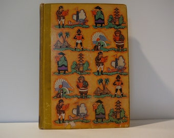 Travel and Adventure Library for Young Folks, 1939, vintage kids book