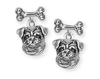 Pug Dog Earrings Jewelry  D05B-E