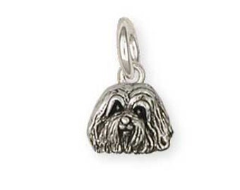 Solid Sterling Silver Havanese Charm Jewelry  HV2-C