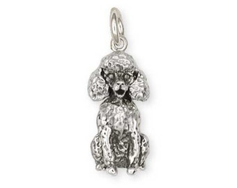 Solid Sterling Silver Poodle Charm Jewelry  D01-C