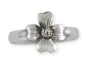 Solid Dogwood Flower Ring Jewelry Sterling Silver DGW5-R